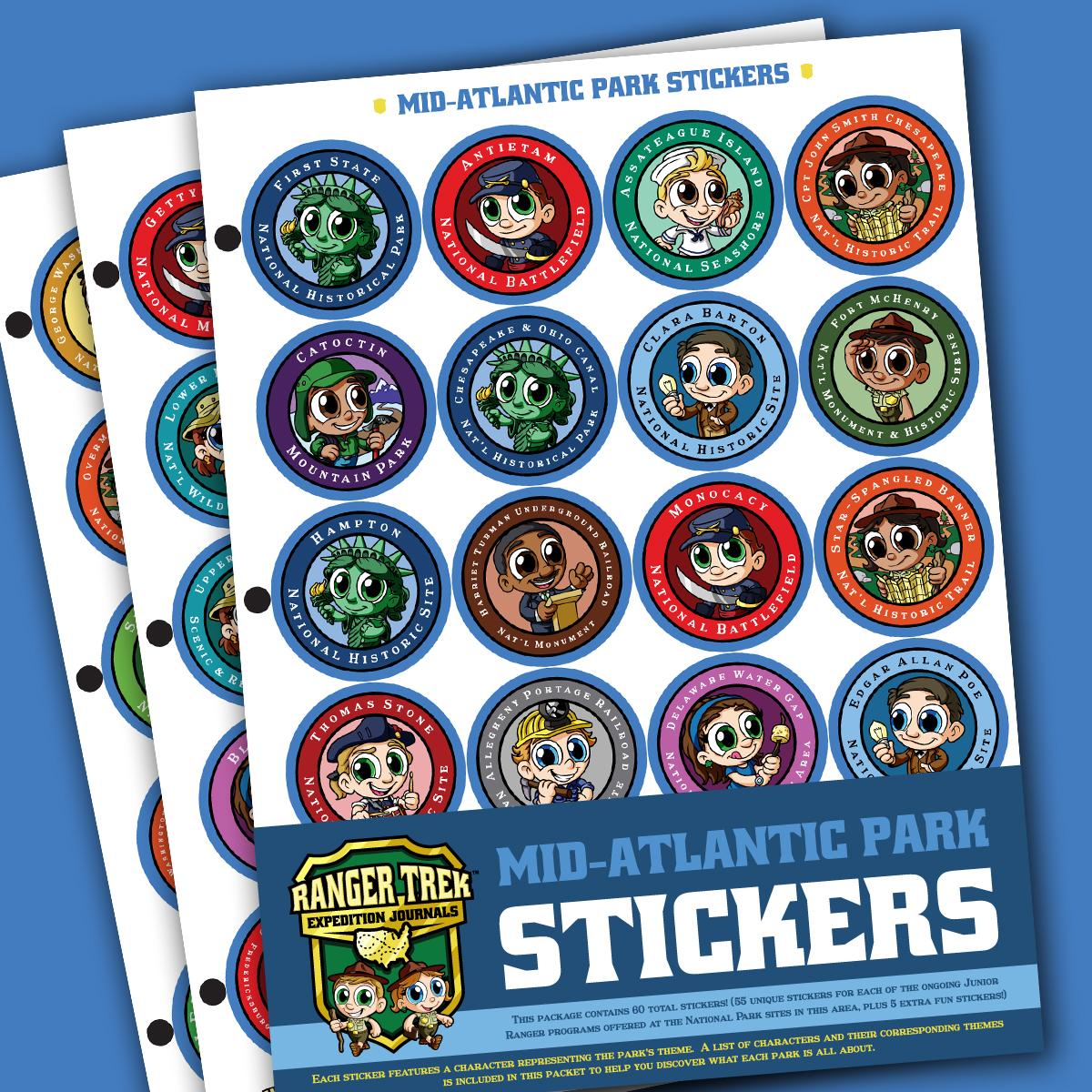 Ranger Trek™ Mid-Atlantic State Park Stickers