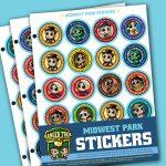 Ranger Trek™ Midwest State Park Stickers