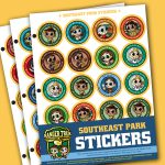 Ranger Trek™ Southeast Region Park Stickers