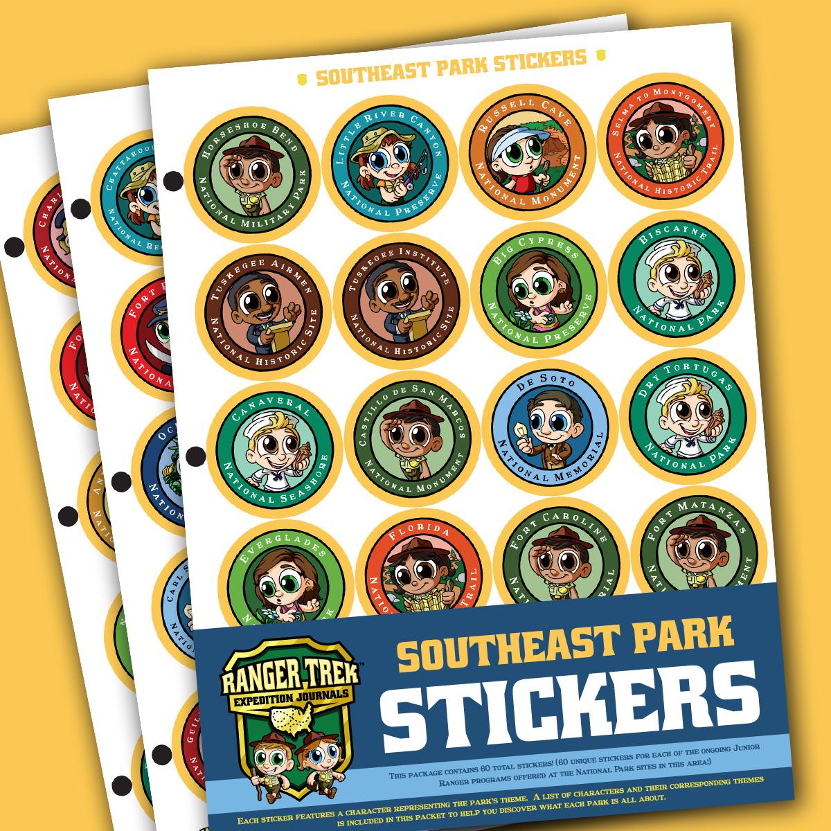 Ranger Trek™ Southeast Region Park Stickers