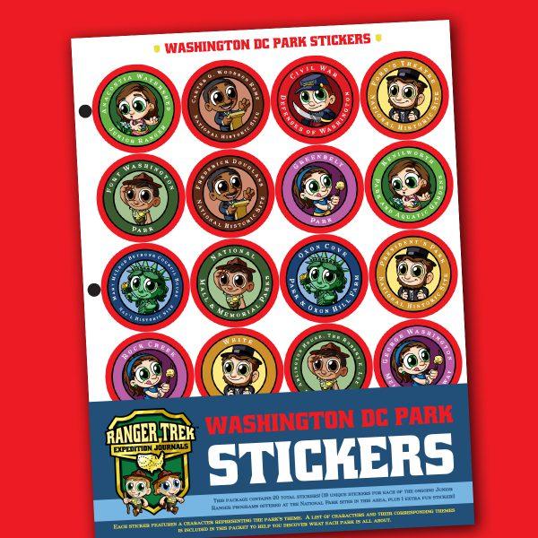 Ranger Trek™ Washington DC Area Park Stickers
