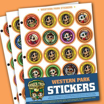 Ranger Trek™ Western State Park Stickers