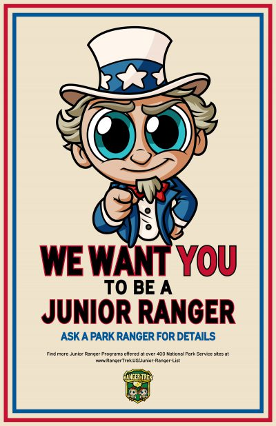 """Ranger Trek - Uncle Sam - We Want You To Be A Junior Ranger! 11""""x17"""" Poster"""